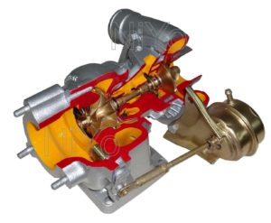 Cut Section of Turbocharger - CUT01-25